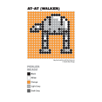 AT-AT Perler Bead Coaster