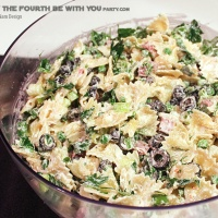Bow-TIE Fighter Pasta Salad
