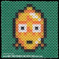 C-3PO Perler Bead Coaster