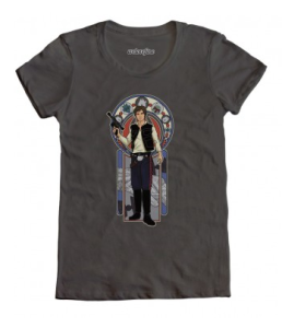 Han Solo Art Nouveau T-shirt /// Check out all our other Star Wars costumes on our blog! // #starwars #starwarsparty #maythefourthbewithyou #starwarsbirthday #hansolo #tshirt maythefourthbewithyoupartyblog.com