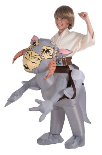 Inflatable Taun-taun Costume /// Check out all our other Star Wars costumes on our blog! #starwars #starwarsparty #maythefourthbewithyou #starwarsbirthday #starwarscostume #halloweencostume #tauntaun #luke #hansolo #hoth #cosplay maythefourthbewithyoupartyblog.com