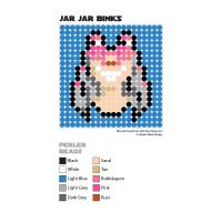 Jar Jar Perler Bead Coaster