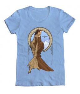 Leia Art Nouveau T-shirt /// Check out all our other Star Wars costumes on our blog! // #starwars #starwarsparty #maythefourthbewithyou #starwarsbirthday #leia #tshirt maythefourthbewithyoupartyblog.com