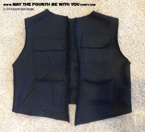 DIY Han Solo Costume. Check out all our other Star Wars costumes on our blog! #hansolo #holster #starwars #starwarsparty #maythefourthbewithyou #starwarsbirthday #starwarscostume #halloweencostume #cosplay maythefourthbewithyoupartyblog.com