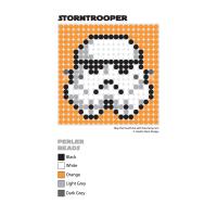 Stormtrooper Perler Bead Coaster