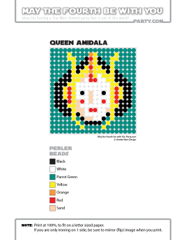 Queen Amidala Perler Pattern /// We add new patterns to our blog every week! Click the URL and follow us to make sure you don't miss any! /// Star Wars perler, hama bead, cross-stitch, knitting, Lego, pixel pattern /// Note: Patterns are ©, and your work must include © if posted, and can not be sold. See blog for complete ©. #pixel #pixelart #perler #perlerbeads #hama #hamabeads #starwars #crossstitch #lego #knitting #mosaic #amidala #padme #queenamidala maythefourthbewithyoupartyblog.com