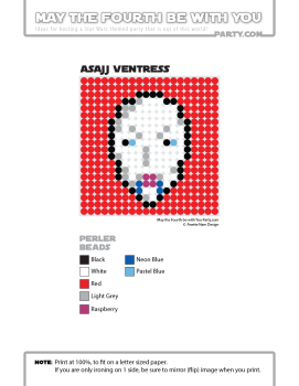 Asajj Ventress Perler Pattern /// We add new patterns to our blog every week! Click the URL and follow us to make sure you don't miss any! /// Star Wars perler, hama bead, cross-stitch, knitting, Lego, pixel pattern /// Note: Patterns are ©, and your work must include © if posted, and can not be sold. See blog for complete ©. #pixel #pixelart #perler #perlerbeads #hama #hamabeads #starwars #crossstitch #lego #knitting #mosaic #asajj #asajjventress #assajj maythefourthbewithyoupartyblog.com