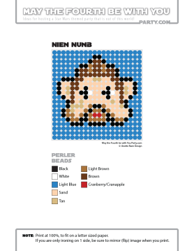 Nien Nunb Perler Pattern /// We add new patterns to our blog every week! Click the URL and follow us to make sure you don't miss any! /// Star Wars perler, hama bead, cross-stitch, knitting, Lego, pixel pattern /// Note: Patterns are ©, and your work must include © if posted, and can not be sold. See blog for complete ©. #pixel #pixelart #perler #perlerbeads #hama #hamabeads #starwars #crossstitch #lego #knitting #mosaic #niennunb maythefourthbewithyoupartyblog.com