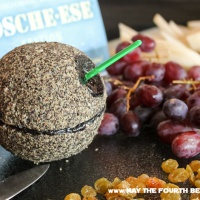 Pepper-Encrusted Death Star Blue Cheese Ball
