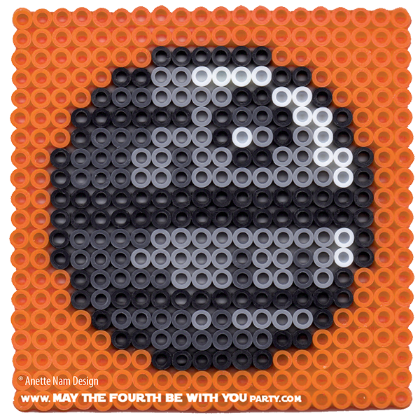 Death Star Perler Bead Coaster May The Fourth Be With