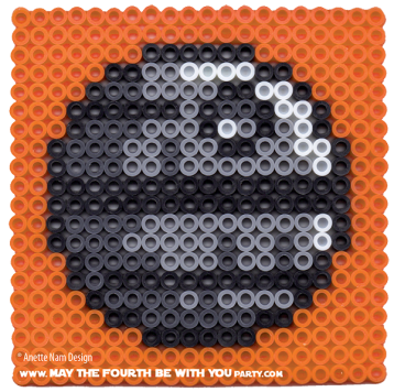 Death Star perler cross stitch