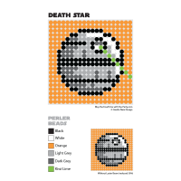 Death Star Perler Bead Coaster