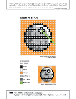 Death Star perler pattern cross stitch