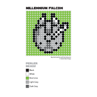 Millennium Falcon Perler Bead Coaster