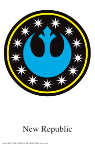 Star Wars Banner icons-New Republic: Star Wars Flags and Banners (Downloadable Empire and Rebel Symbols) // Check out our blog for lots more Star Wars crafts and decor. // #starwars #starwarsparty #maythefourthbewithyou #starwarsbirthday #banners #rebels #empire maythefourthbewithyoupartyblog.com