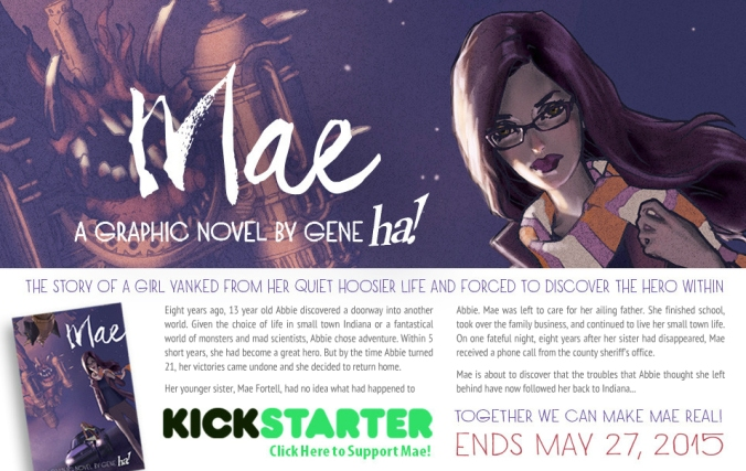 Mae Graphic Novel Cover Kickstarter maythefourthbewithyoupartyblog.com