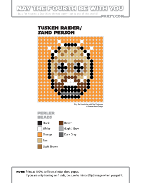 Tusken Raider Perler Pattern /// We add new patterns to our blog every week! Click the URL and follow us to make sure you don't miss any! /// Star Wars perler, hama bead, cross-stitch, knitting, Lego, pixel pattern /// Note: Patterns are ©, and your work must include © if posted, and can not be sold. See blog for complete ©. #pixel #pixelart #perler #perlerbeads #hama #hamabeads #starwars #crossstitch #lego #knitting #mosaic #tuskenraider #sandpeople maythefourthbewithyoupartyblog.com