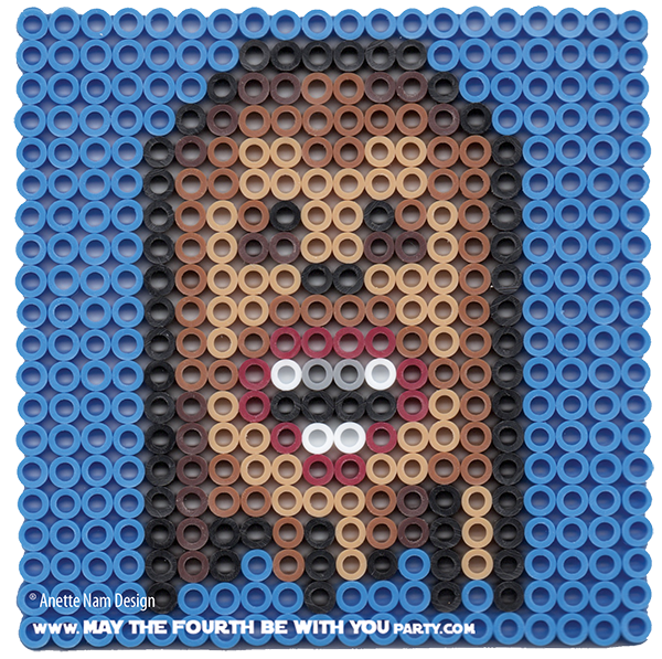 May The Fourth Be With You Wookie: Chewbacca Perler Bead Coaster
