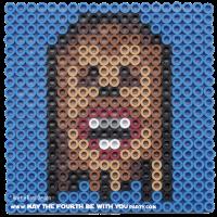 Chewbacca Perler Bead Coaster