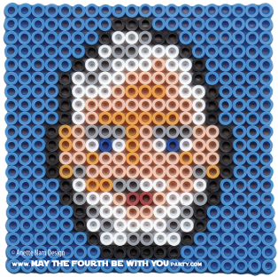 Obi-wan Kenobi (old Ben) Perler Pattern /// We add new patterns to our blog every week! Click the URL and follow us to make sure you don't miss any! /// Star Wars perler, hama bead, cross-stitch, knitting, Lego, pixel pattern /// Note: Patterns are ©, and your work must include © if posted, and can not be sold. See blog for complete ©. #pixel #pixelart #perler #perlerbeads #hama #hamabeads #starwars #crossstitch #lego #knitting #mosaic #obiwan #obiwankenobi maythefourthbewithyoupartyblog.com