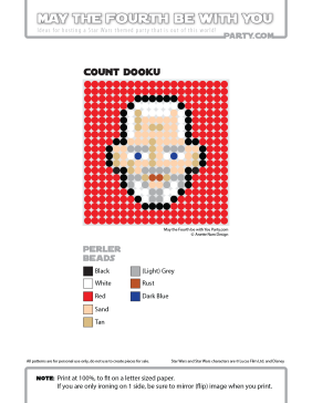 Count Dooku Perler Pattern /// We add new patterns to our blog every week! Click the URL and follow us to make sure you don't miss any! /// Star Wars perler, hama bead, cross-stitch, knitting, Lego, pixel pattern /// Note: Patterns are ©, and your work must include © if posted, and can not be sold. See blog for complete ©. #pixel #pixelart #perler #perlerbeads #hama #hamabeads #starwars #crossstitch #lego #knitting #mosaic #dooku #countdooku maythefourthbewithyoupartyblog.com