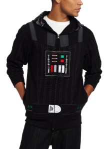 Darth Vader Jacket/Hoodie /// Check out all our other Star Wars costumes on our blog! #starwars #starwarsparty #maythefourthbewithyou #starwarsbirthday #starwarscostume #halloweencostume #darthvader #cosplay maythefourthbewithyoupartyblog.com