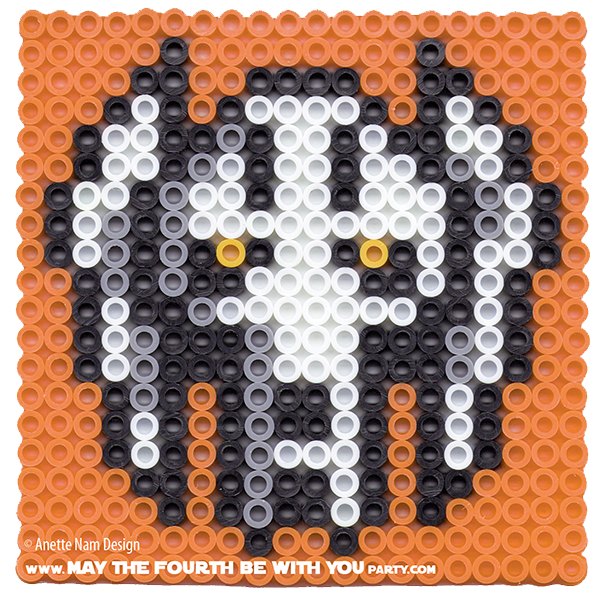General Grievous Perler Bead Coaster May The Fourth Be With You Party