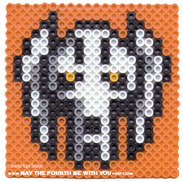 Grievous perler cross stitch