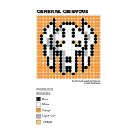 General Grievous Perler Bead Coaster