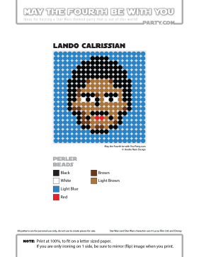 Lando Calrissian Perler Pattern /// We add new patterns to our blog every week! Click the URL and follow us to make sure you don't miss any! /// Star Wars perler, hama bead, cross-stitch, knitting, Lego, pixel pattern /// Note: Patterns are ©, and your work must include © if posted, and can not be sold. See blog for complete ©. #pixel #pixelart #perler #perlerbeads #hama #hamabeads #starwars #crossstitch #lego #knitting #mosaic #lando #landocalrissian maythefourthbewithyoupartyblog.com