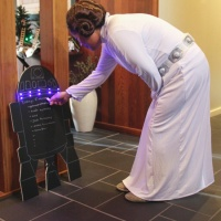 DIY R2-D2 Chalkboard Sign