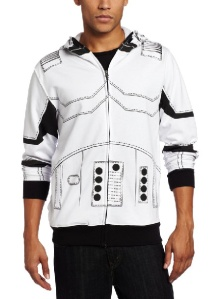 StormtrooperJacket/Hoodie /// Check out all our other Star Wars costumes on our blog! #starwars #starwarsparty #maythefourthbewithyou #starwarsbirthday #starwarscostume #halloweencostume #stormtrooper #cosplay maythefourthbewithyoupartyblog.com