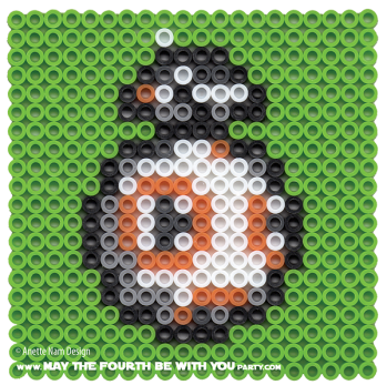 BB-8 Perler Pattern. /// We add new patterns to our blog every week! Click the URL and follow us to make sure you don't miss any! /// Star Wars perler, hama bead, cross-stitch, knitting, Lego, pixel pattern /// Note: Patterns are ©, and your work must include © if posted, and can not be sold. See blog for complete ©. #pixel #pixelart #perler #perlerbeads #hama #hamabeads #starwars #crossstitch #lego #knitting #mosaic #bb8 #theforceawakens maythefourthbewithyoupartyblog.com