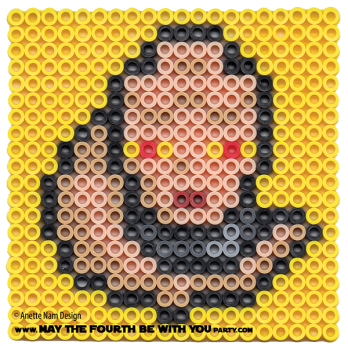 Bib Fortuna Perler Pattern. /// We add new patterns to our blog every week!  Click the URL and follow us to make sure you don't miss any! /// Star Wars perler, hama bead, cross-stitch, knitting, Lego, pixel pattern /// Note: Patterns are ©, and your work must include © if posted, and can not be sold.  See blog for complete ©. #pixel #pixelart #perler #perlerbeads #hama #hamabeads #starwars #crossstitch #lego #knitting #mosaic #bibfortuna maythefourthbewithyoupartyblog.com