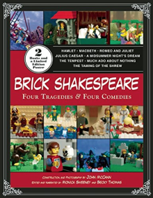 (Lego) Brick Shakespeare book /// Check out our blog for lots of Star Wars gift ideas /// #starwars #starwarsgift #maythefourthbewithyou #starwarsbirthday #shakespeare #christmaspresent #starwarsbook #read #Lego maythefourthbewithyoupartyblog.com