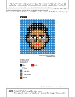 Finn Perler Pattern. /// We add new patterns to our blog every week! Click the URL and follow us to make sure you don't miss any! /// Star Wars perler, hama bead, cross-stitch, knitting, Lego, pixel pattern /// Note: Patterns are ©, and your work must include © if posted, and can not be sold. See blog for complete ©. #pixel #pixelart #perler #perlerbeads #hama #hamabeads #starwars #crossstitch #lego #knitting #mosaic #finn #theforceawakens maythefourthbewithyoupartyblog.com