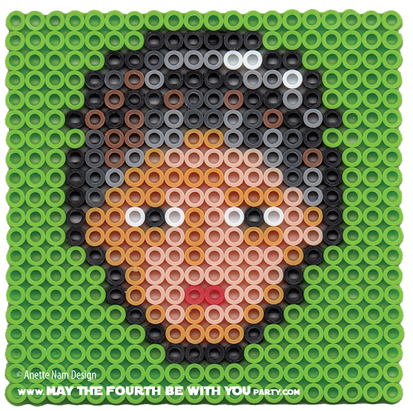May The Fourth Be With You Wookie: 2 Princess Leia Perler Pixel Patterns