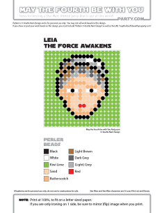 Princess Leia Perler Pattern /// We add new patterns to our blog every week! Click the URL and follow us to make sure you don't miss any! /// Star Wars perler, hama bead, cross-stitch, knitting, Lego, pixel pattern /// Note: Patterns are ©, and your work must include © if posted, and can not be sold. See blog for complete ©. #pixel #pixelart #perler #perlerbeads #hama #hamabeads #starwars #crossstitch #lego #knitting #mosaic #princessleia #Leia #theforceawakens maythefourthbewithyoupartyblog.com