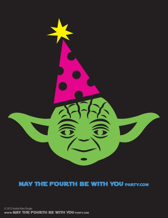 DIY Yoda May the Fourth be with You Party T-shirt. This and many other patterns can be downloaded from our blog. /// Note: Patterns are ©, and your work must include © if posted, and can not be sold. See blog for complete ©. #Yoda #starwars #tshirt #starwarsparty #maythefourthbewithyou #starwarsbirthday #starwarscostume maythefourthbewithyoupartyblog.com