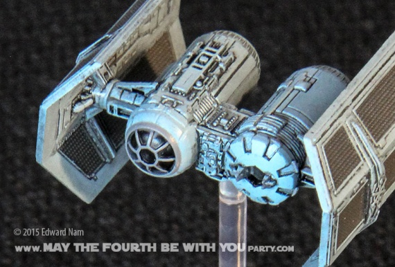 TIE Bomber. Star Wars X-Wing Miniatures Game /// We add new Star Wars fun on our blog every week! /// #starwars #theforceawakens #xwingminiaturesgame #boardgames #review #xwing #tiebomber/// maythefourthbewithyoupartyblog.com