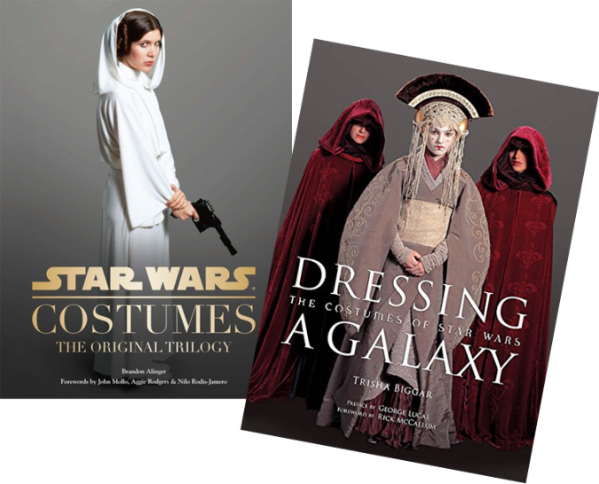 Star Wars Costumes: The Original Trilogy & Dressing a Galaxy /// Check out our blog for lots of Star Wars gift ideas /// #starwars #starwarsgift #maythefourthbewithyou #starwarsbirthday #shakespeare #christmaspresent #starwarsbook #read #starwarscostume #halloweencostume #cosplay maythefourthbewithyoupartyblog.com