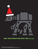 DIY AT-AT Christmas T-shirt/Stencil Pattern. This and many other patterns can be downloaded from our blog. /// Note: Patterns are ©, and your work must include © if posted, and can not be sold. See blog for complete ©. #atat #starwars #tshirt #starwarsparty #maythefourthbewithyou #starwarscostume #pattern #christmas maythefourthbewithyoupartyblog.com