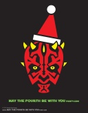 DIY Darth Maul Christmas T-shirt/Stencil Pattern. This and many other patterns can be downloaded from our blog. /// Note: Patterns are ©, and your work must include © if posted, and can not be sold. See blog for complete ©. #darthmaul #starwars #tshirt #starwarsparty #maythefourthbewithyou #starwarscostume #pattern #christmas maythefourthbewithyoupartyblog.com