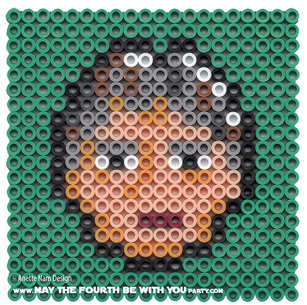 Han Solo May The Fourth Be With You: Mature Han Solo Perler Pixel Pattern