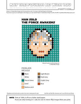 Mature Han Solo Perler Pattern. /// We add new patterns to our blog every week! Click the URL and follow us to make sure you don't miss any! /// Star Wars perler, hama bead, cross-stitch, knitting, Lego, pixel pattern /// Note: Patterns are ©, and your work must include © if posted, and can not be sold. See blog for complete ©. #pixel #pixelart #perler #perlerbeads #hama #hamabeads #starwars #crossstitch #lego #knitting #mosaic #hansolo #theforceawakens maythefourthbewithyoupartyblog.com