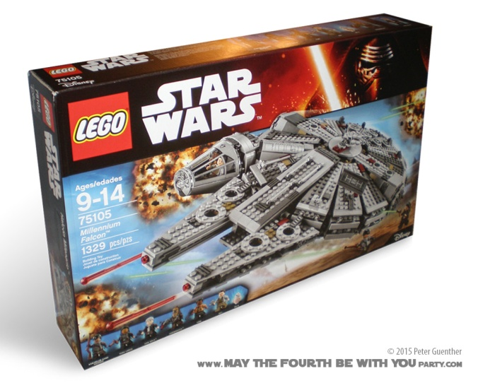 Star Wars Millennium Facon Lego set 75105 Review/// We add new Star Wars gift ideas to our blog every week! /// Star Wars #lego #starwars #theforceawakens #millenniumfalcon #legominifigs #starwarslego #hansolo #rey #chewbacca #bb8 #finn #Kanjiklub /// maythefourthbewithyoupartyblog.com