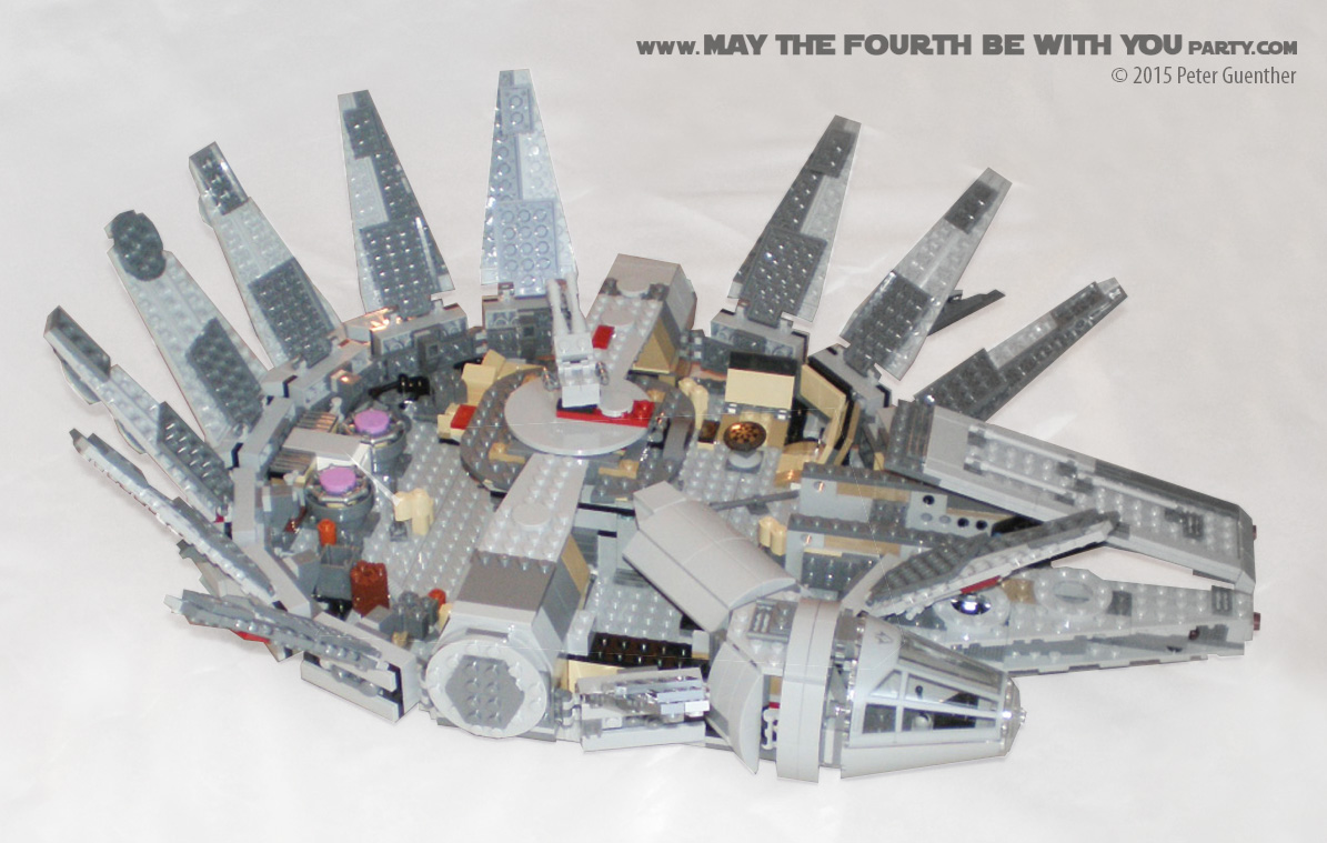 lego star wars millennium falcon set