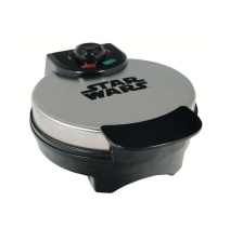 Star Wars Death Star Waffle Maker /// Check out our blog for lots of Star Wars gift and food ideas /// #starwars #starwarsgift #maythefourthbewithyou #starwarsbirthday #christmaspresent #starwarscostume #starwarsfood #waffles maythefourthbewithyoupartyblog.com