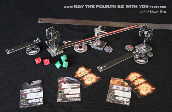 Star Wars X-Wing Miniatures Game /// We add new Star Wars fun on our blog every week! /// #starwars #theforceawakens #xwingminiaturesgame #boardgames #review #xwing #tiefigther /// maythefourthbewithyoupartyblog.com