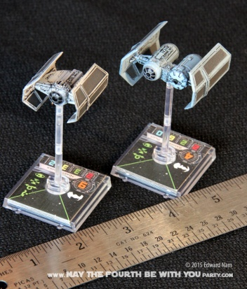 TIE Fighter. Star Wars X-Wing Miniatures Game /// We add new Star Wars fun on our blog every week! /// #starwars #theforceawakens #xwingminiaturesgame #boardgames #review #xwing #tiefighter/// maythefourthbewithyoupartyblog.com